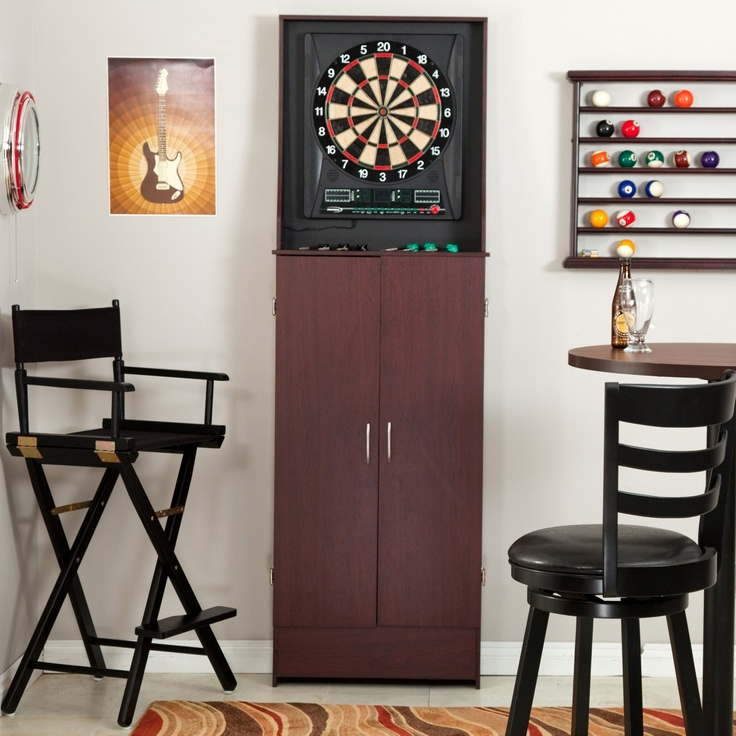 Halex Barrington Arcade Style Electronic Dart Board In Free Standing Cabinet    For Steel Tip Or