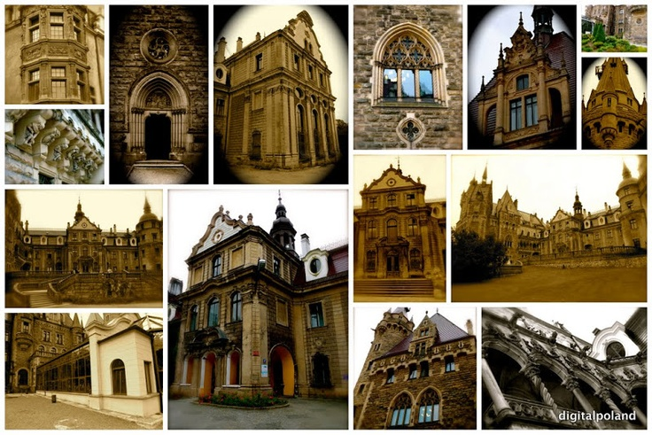 Cards from Poland - Castle Moszna