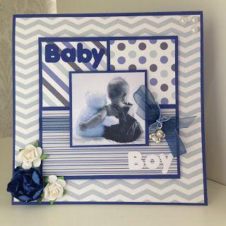Randis hobbyverden: Baby kort til en liten gutt