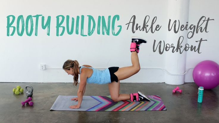 Booty Building Ankle Weight Workout | Butt Exercises with Ankle Weights - YouTube