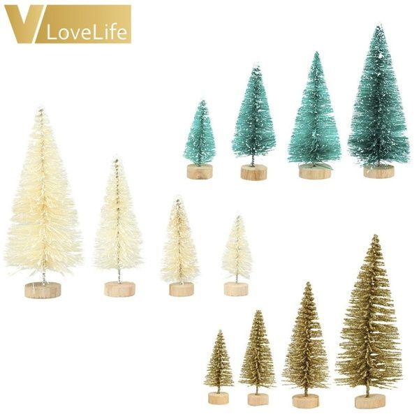 4pcs Christmas Tree A Small Pine Tree Placed In The Desktop Mini Christmas Decoration For Home Xmas Small Pine Trees Artificial Christmas Tree Holiday Decor Christmas