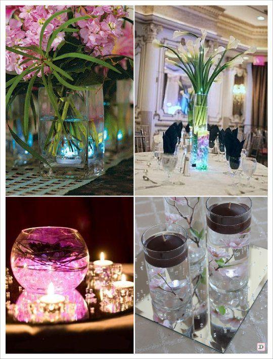Centre de table led submersible perles eau d co tables pinterest centre - Pinterest centre de table ...