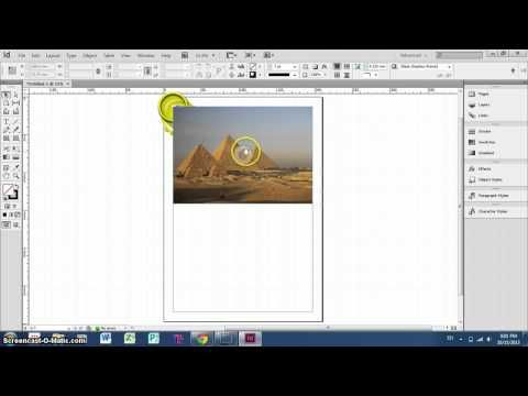 InDesign Tutorial - How to insert, resize and crop images - YouTube