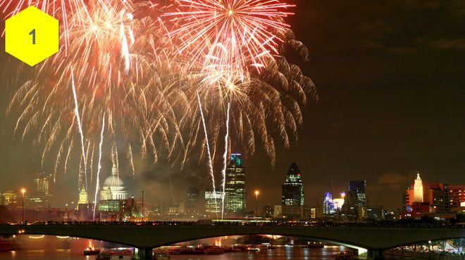 25 stunning photos of fireworks in London: http://www.timeout.com/london/things-to-do/25-stunning-photos-of-fireworks-in-london