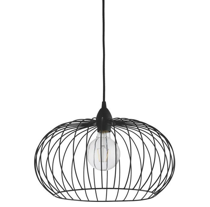 Black metal wire globe ceiling light shade