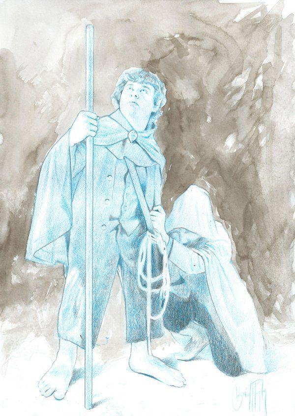 #LIBROS #ILUSTRACION #ILLUSTRATION #VALENCIA - Samsagaz Gamyi by David Pastor - Oficis extraordinaris by APIV. L'Associació Professional Il·lustradors de València està ultimant el muntatge de la seua exposició anual Oficis extraordinaris i editara un catàleg que arreplegue les il·lustracions fetes pels seus socixs a partir d'algunes de les millors obres literàries. hobbit lord of the rings señor de los anillos frodo +INFO www.apiv.com Campaña crowdfunding verkami…