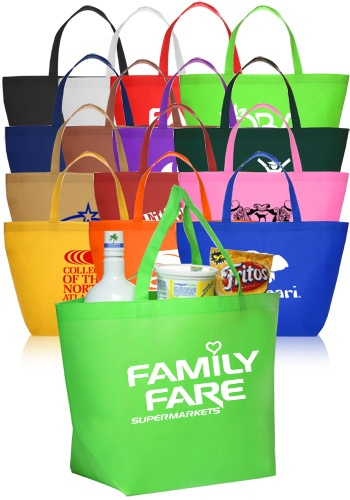 Wholesale custom printed cheap tote bags at bulk prices - Free Shipping $1.22 each