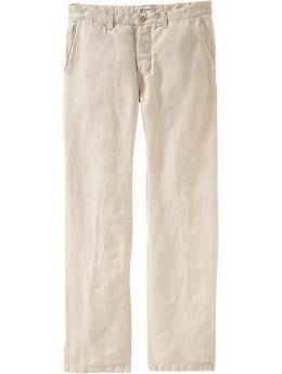 Men's linen looks for summer - Men's Plain-Front Linen Pants