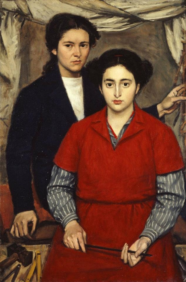 Yiannis Moralis, Two Girl Friends, 1946