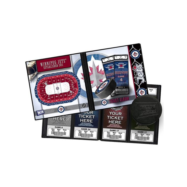 Winnipeg Jets Ticket Album, Multicolor