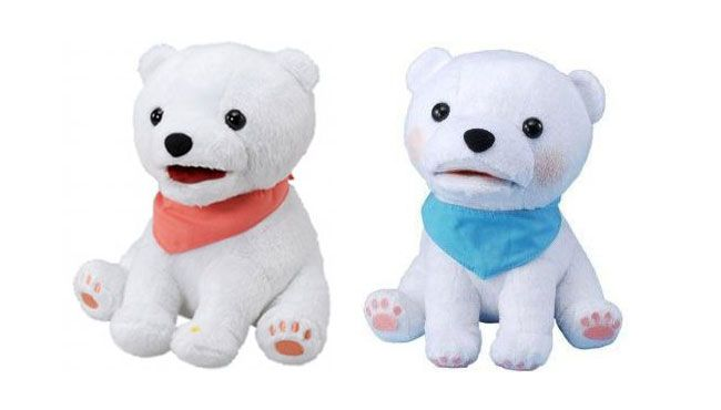 This too cute Polar Bear is a great toy for kids that sings and hums eleven different well-known tunes!