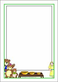 Goldilocks and the Three Bears A4 page borders (SB4451) - SparkleBox