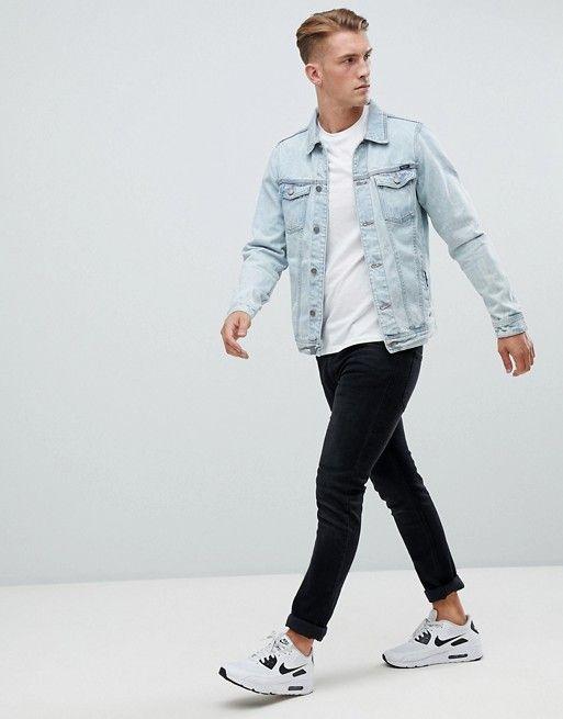 0caa823b63c Pull&Bear Denim Jacket In Light Blue | Men's style | Denim jacket ...