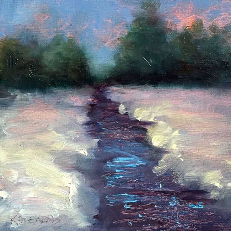 """Pristine"", 4"" x 4"" Petite Original Oil Painting"