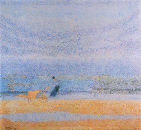 Jan Toorop - Shell gathering on the beach