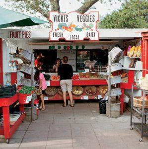 North America,Long Island,Hamptons,Vicki's Veggies,farm stand,produce,outdoor market,woman,shopper,tomato,vegetable