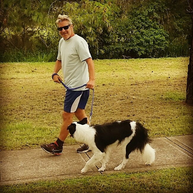 PADDY.........WALKING THE WALK.......TALKING THE TALK! dogsbigdayout.com.au