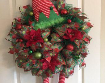Snowman Christmas Wreath von Craftnrelax auf Etsy