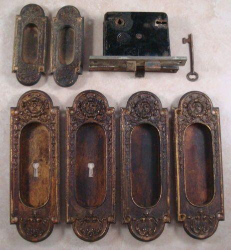 Antique Escutcheon Gothic Lot Mortise Y T Locks and Door Pockets Set with Key | eBay $300 & 49 best Pocket doors images on Pinterest | Pocket doors Pockets ... Pezcame.Com