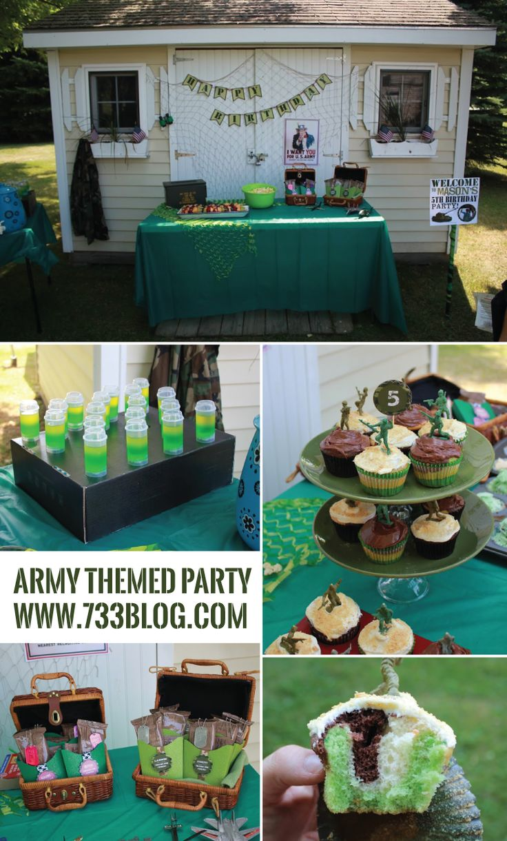 17 best ideas about army themed birthday on pinterest for Army theme party decoration ideas