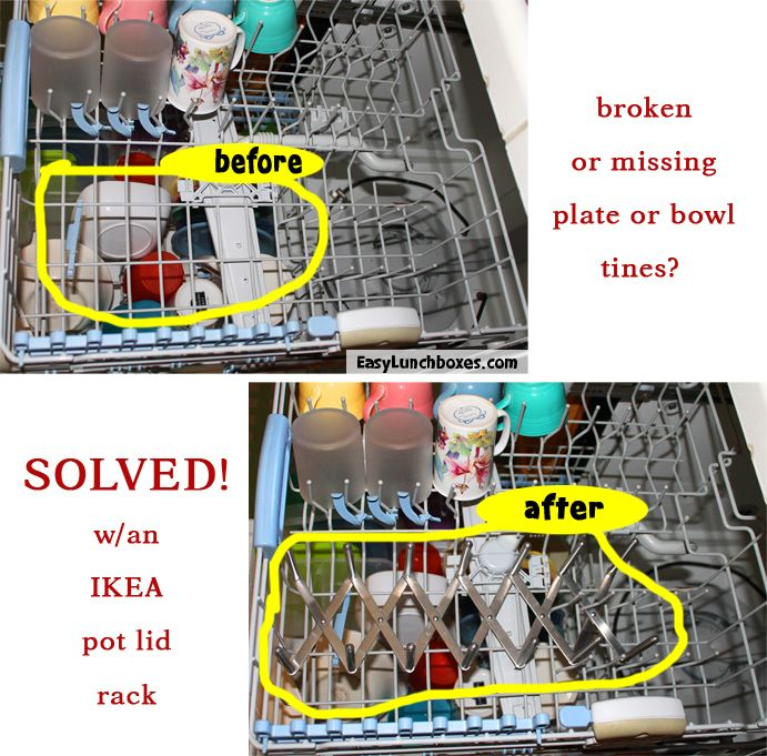 Ikea Godmorgon Kasten Mit Fächern ~ How to fix broken dishwasher tines  easy hack