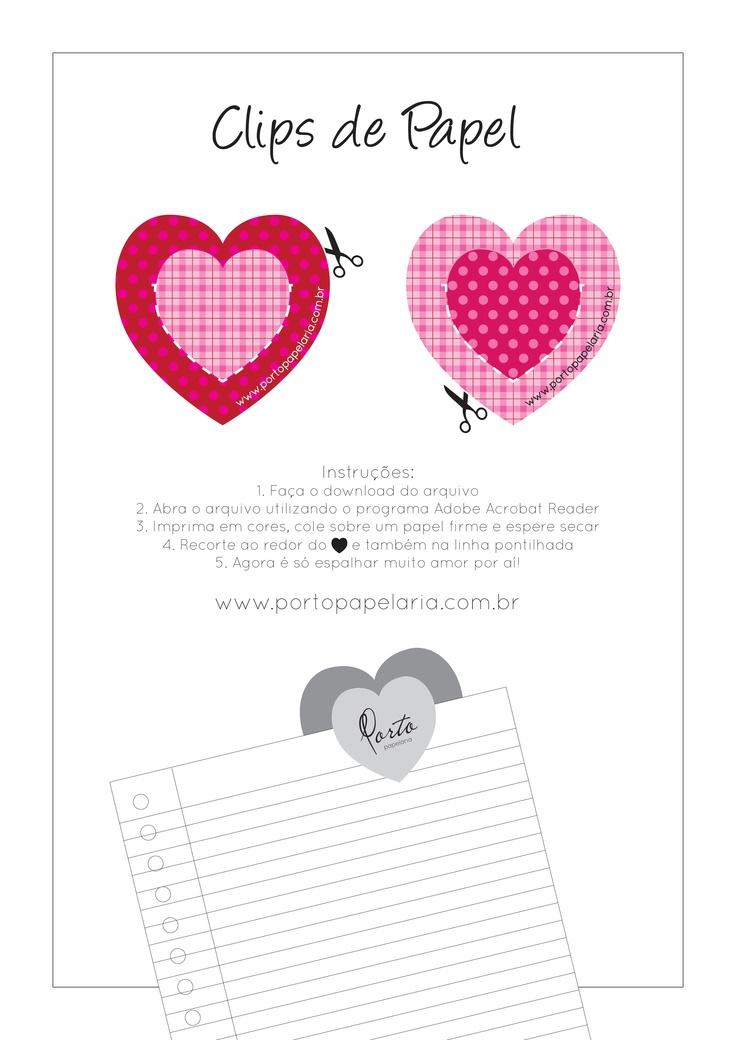 Clips em formato de coração para espalhar muito amor por aí!