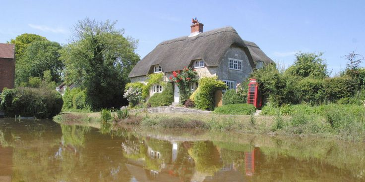 In Wiltshire, a thatched roof and a red phone booth—is anything more English?