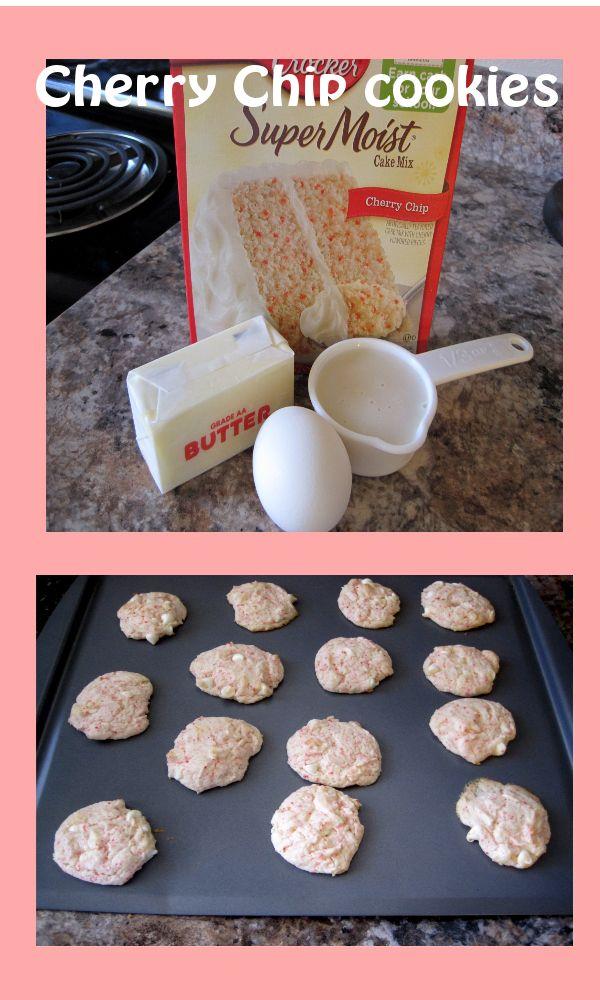 Cherry chip cookie recipe cake mix