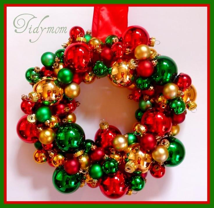 Christmas Craft – {Glass} Ball Ornament WreathsChristmas Wreaths, Christmas Crafts, Antiques Christmas, Glasses Ball, Ball Ornaments, Diy Ornaments, Christmas Ornaments, Christmas Ideas, Ornaments Wreaths