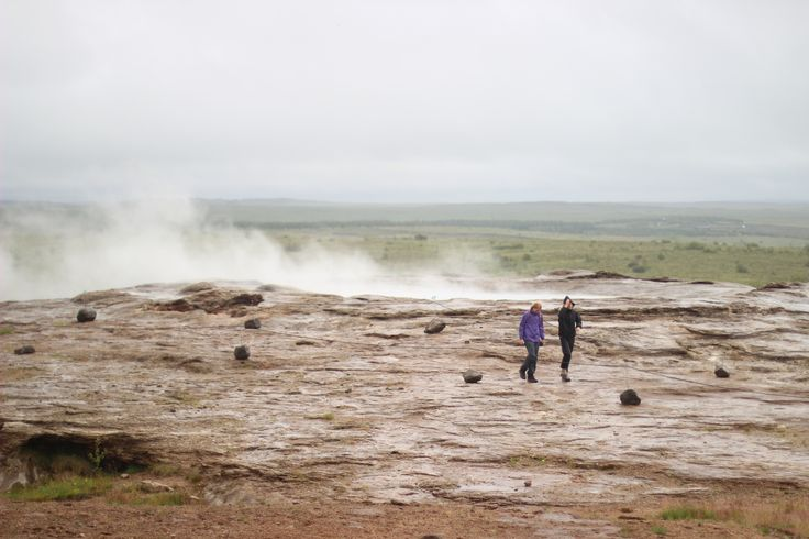 From the geysers on Iceland - 2014  #geyser #iceland #landscape