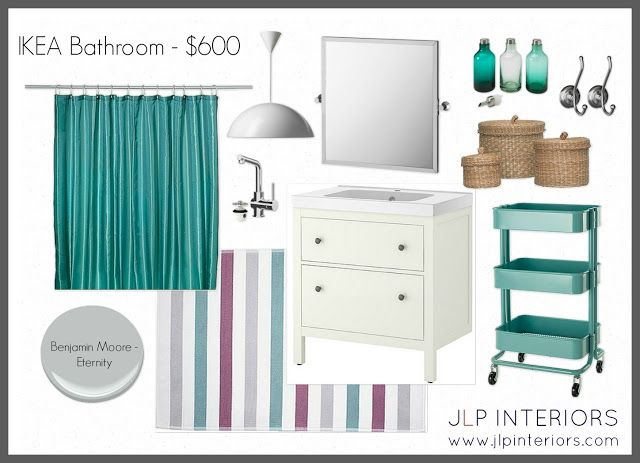 love this board for teal and gray bathroom (Home with Baxter: Mood Board Monday - IKEA Bathroom)