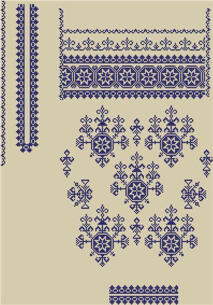 Вышивакнка женская.Схема вышивки крестиком