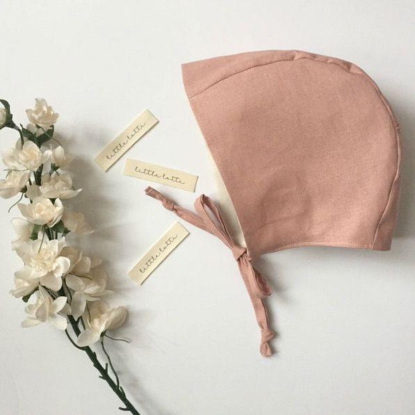 Handmade Linen Baby Bonnet  181f413beee