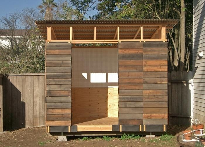 A Garden Shed Made from Reclaimed Redwood Gardenista