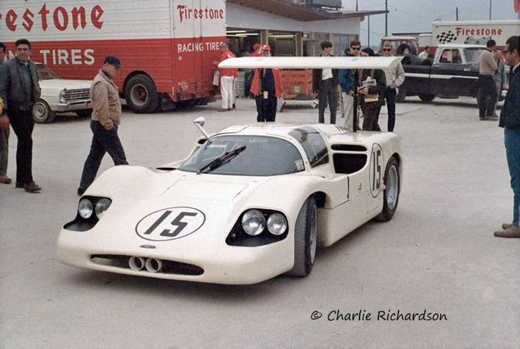 "Phil Hill and Mike Spence drove this ""winged wonder"" Chaparral 2F at Daytona in 1967."