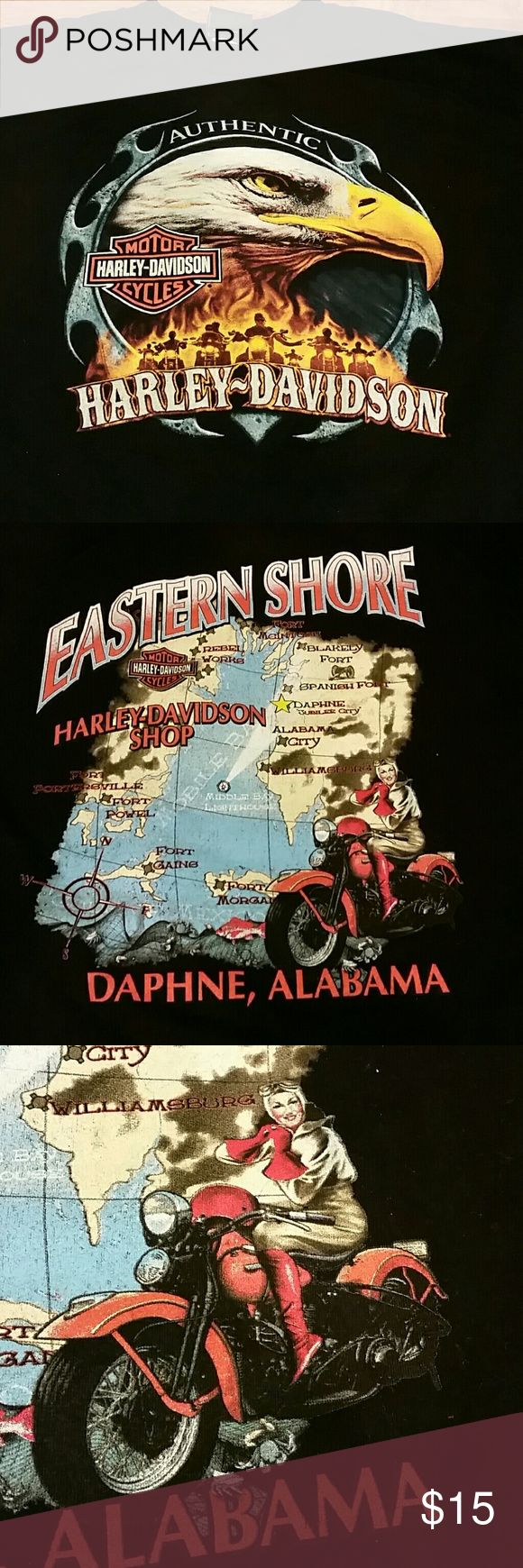 Harley-Davidson Alabama Tee Excellent condition.  Harley-Davidson shop in Daphne, Alabama. Eastern Shore Harley-Davidson Shirts Tees - Short Sleeve