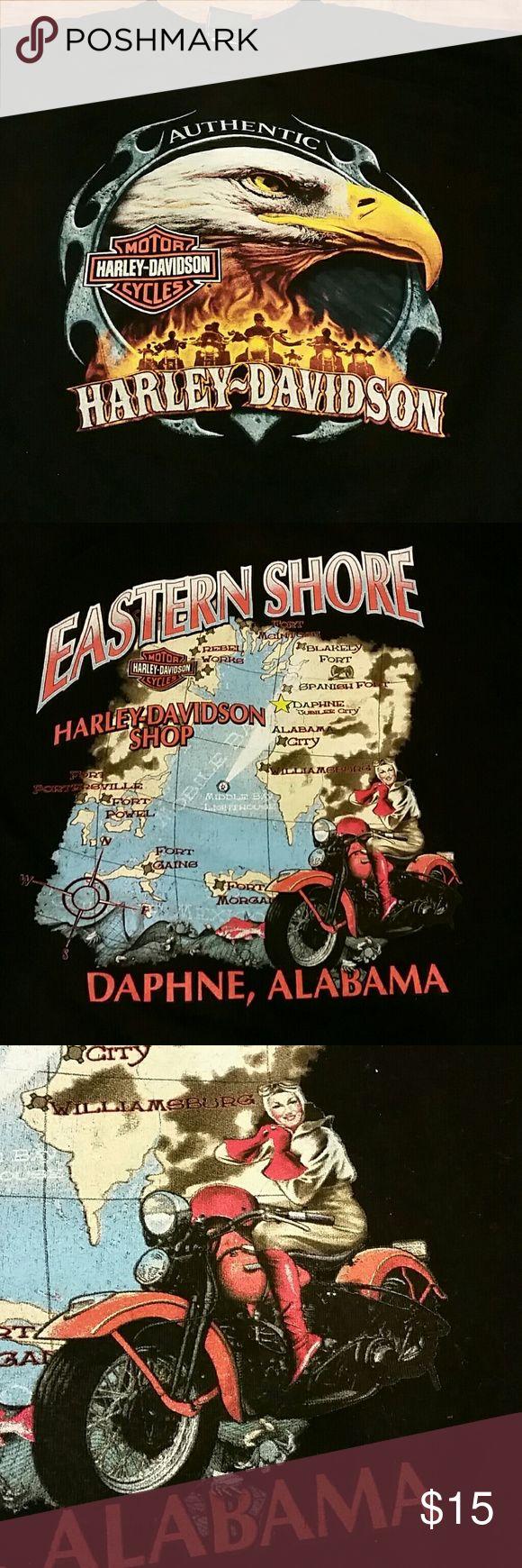 Harley-Davidson Alabama Tee Excellent condition.  Harley-Davidson shop in Daphne, Alabama. Eastern Shore Harley-Davidson Shirts Tees - Short Sleeve