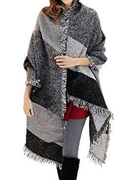 Sciarpa Donna Inverno Grande V  dd6eda5b3926