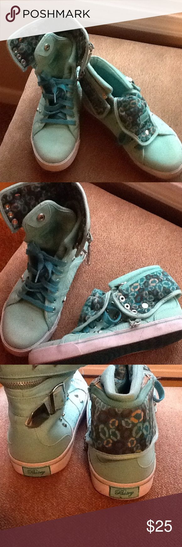 Mint pastry sneakers. Too cold Wear many ways even the high top zips off.  Mint. Pastries. Don't miss out Pastry Shoes Athletic Shoes