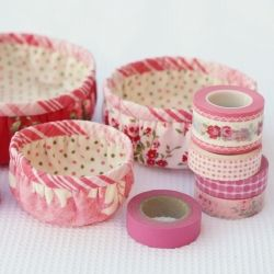 Make a trio of baskets from fabric. They nest inside each other when not in use. {Tutorial}