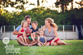 Love this family session on a football field!  @Jamie Mueller ...someday?
