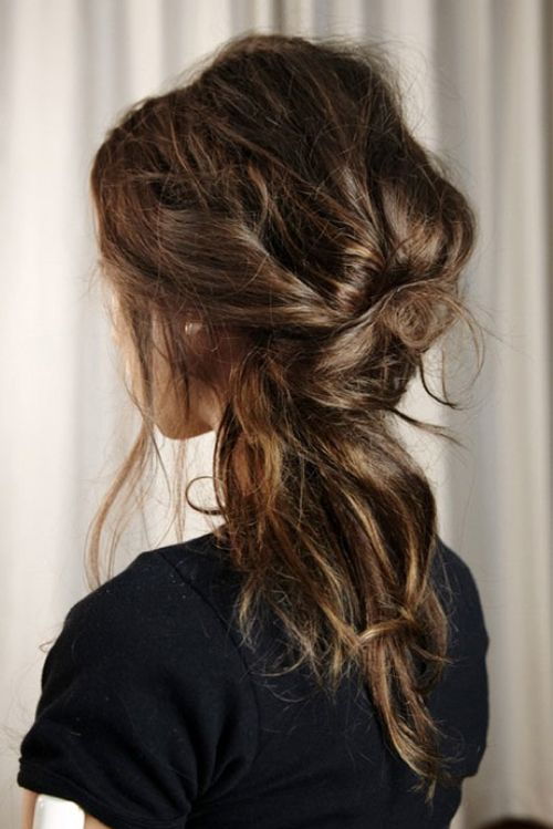 messy! not sure if my hair will be long enough by wedding time to do this but I love it.