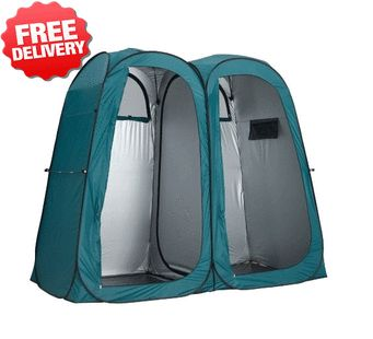 OZtrail Double Pop Up Shower Tent Ensuite Change Room Toilet - with free shipping