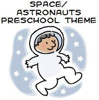 Outer Space and Astronauts Theme and Activities for Preschool.  Cool songs/poems that you can use when teaching the space theme
