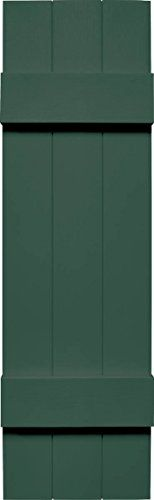 Mid America VJBB10576FG Joint Board  Batten Three Board Vinyl Shutter 76 x 105 Forest Green ** You can get additional details at the image link.