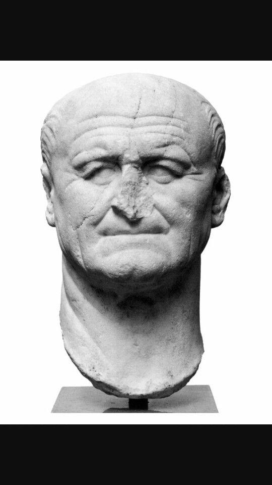 Ritratto di Vespasiano, 60 d.C.Marmo a tutto tondo.Oggi conservato presso Museo di Copenaghen.