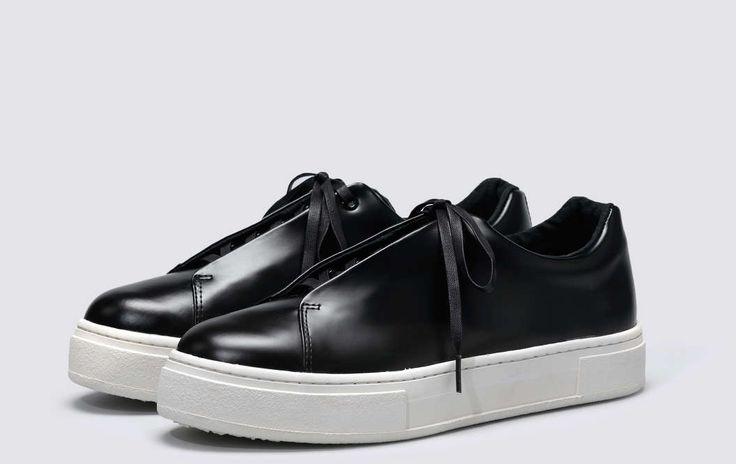 #Eytys Doja Leather Black.
