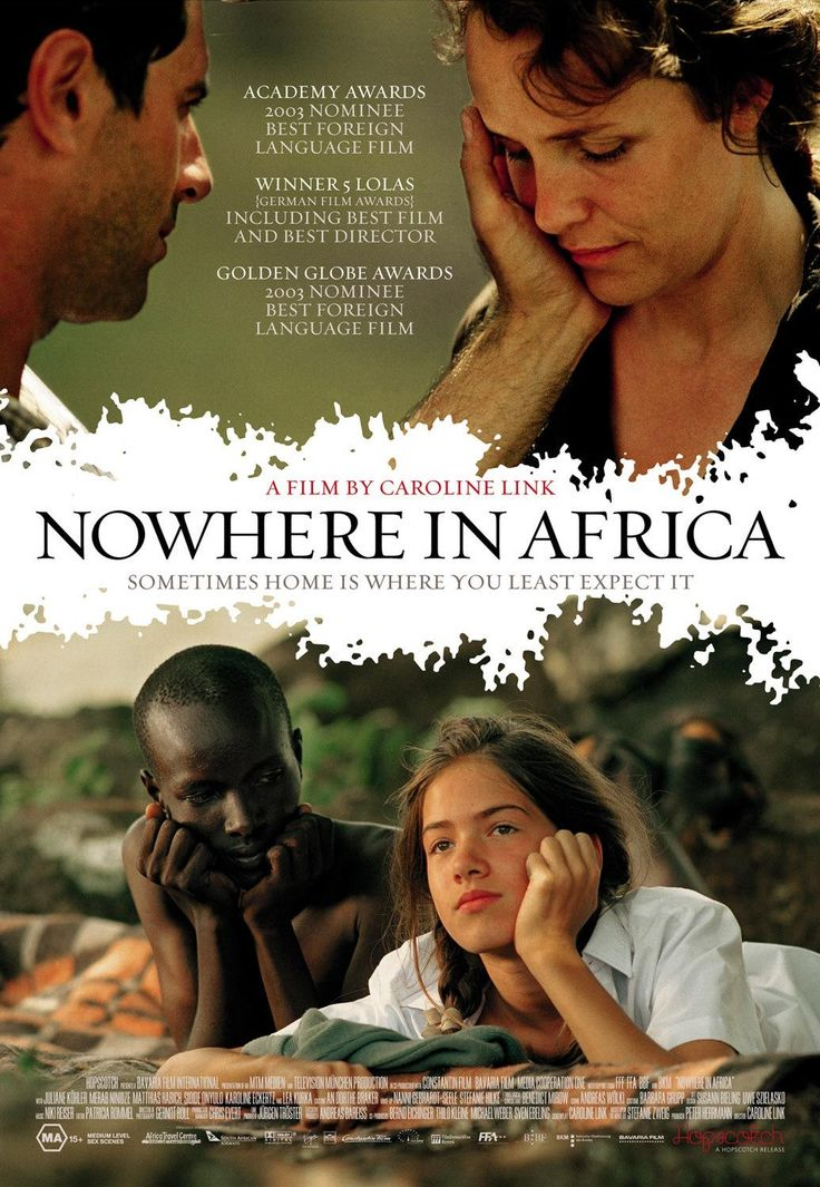 Nowhere in Africa, one of the best travel movies of all time. For more awesome travel movie suggestions click the pin.