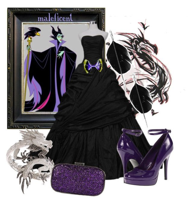 """Maleficent"" by princesschandler ❤ liked on Polyvore featuring Elise Dray, Anya Hindmarch, Style Tryst and Call it SPRING"