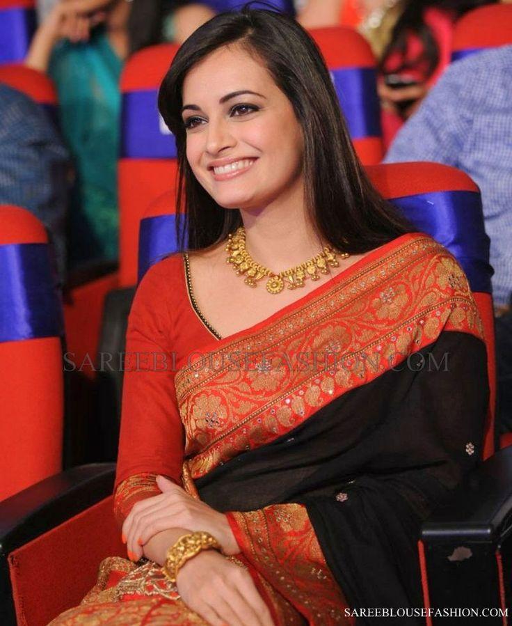 Dia Mirza Saree Blouse 15